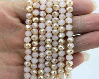 100 Pieces,6mm Sparkle Crystal Beads, Faceted Crystal Beads,1 Strand,Crystal Beads,Gemstone Beads-CY016