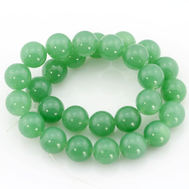 """6mm Smooth Natural Round Jade Jewelry Making Loose Gemstone Beads 15/""""A AAaa"""