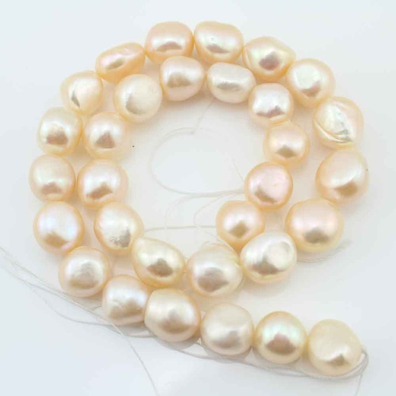 AA12-15mm Baroque Pearl Beads,Freshwater Natural Pearl Beads,Pink Pearl Beads,One Full Strand,Gemstone Beads--30 Pieces---15.5 inches--FS99