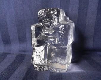 Glass sculpture designed by Erik Höglund (1932-1998) for [ Kosta ] Boda Sweden Signed Boda H 1074