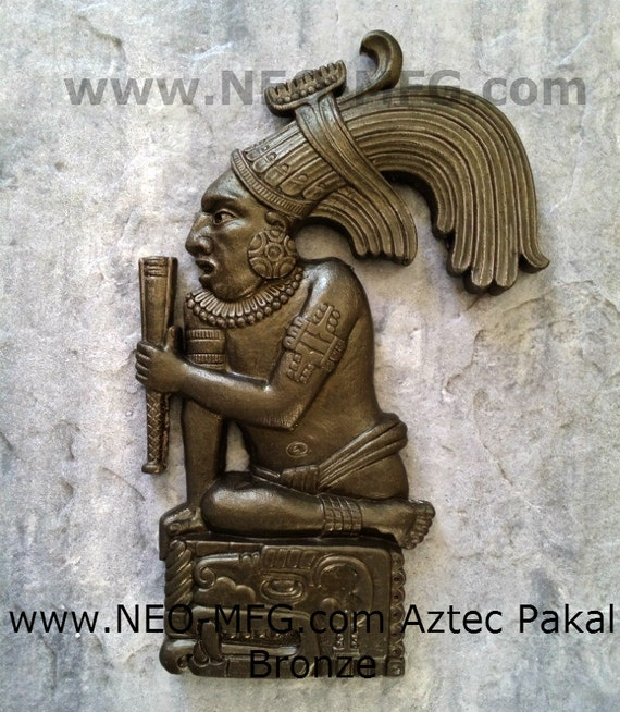 History Aztec Maya King Pakal Sculpture Statue Wall plaque 17/""