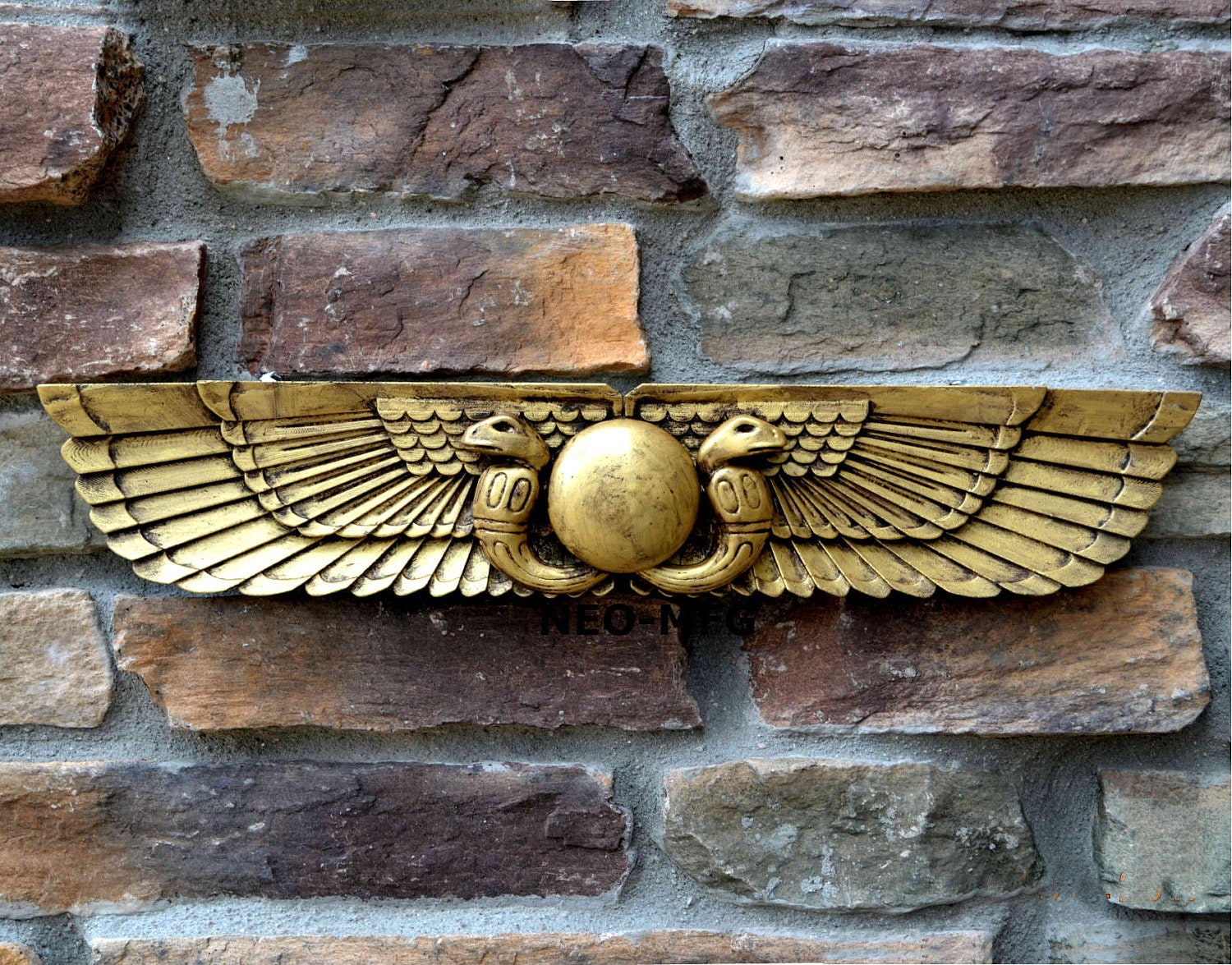 History Egyptian Ur Uatchti Winged Sun Disk Pediment Etsy