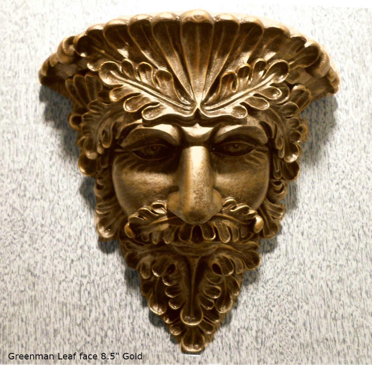 Greenman Leaf Face Sculpture Wall Plaque Art Neo Mfgcom Etsy 85 Home Garden Decor