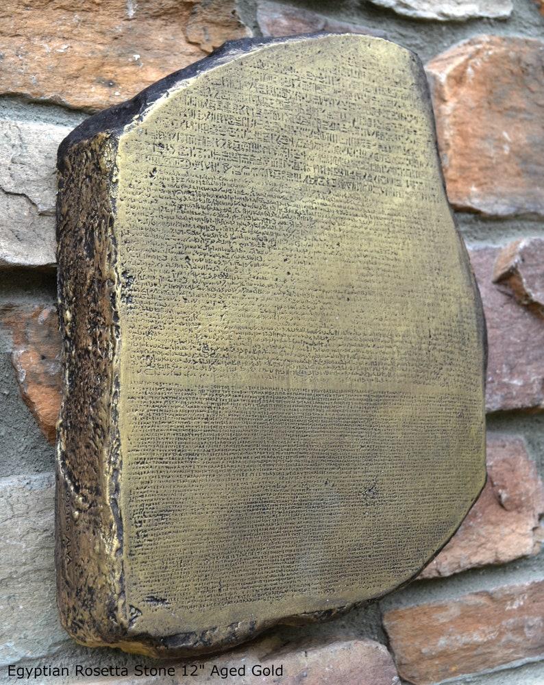 History Egyptian Rosetta Stone Sculpture Statue 12
