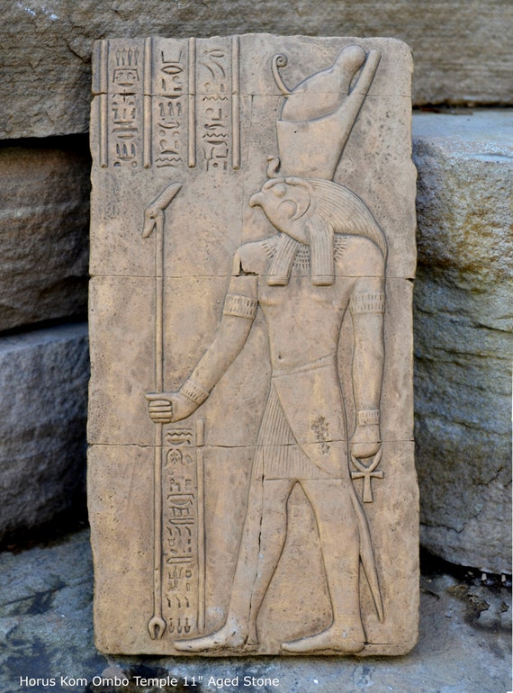 wall hanging Egyptian relief  Horemheb  goddess Isis Egipt sculpture  wall art