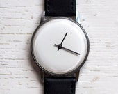 Soviet watch Russian watch Mens Watch Vintage Watch Mechanical watch - white watch face - classic watch- USSR Vintage quot Pobeda quot