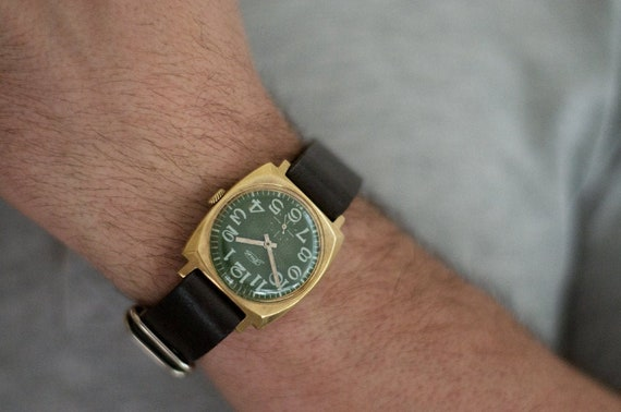 "Soviet watch ""Pobeda"" , Mens watch, Russian watch,"