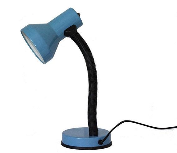 lampe de bureau vintage flexible bleue petite lampe ancienne etsy. Black Bedroom Furniture Sets. Home Design Ideas