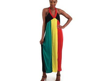 f2fbda3070b13 Sleeveless Rasta Dress
