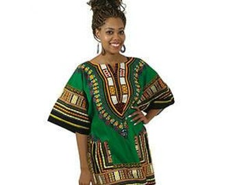 6dd1815a417 African Dashiki Plus Size Green