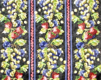 NEEDLEPOINT CANVAS//Printed Canvas/a Primavera/Needlepoint*Canvas Only/Fruit & Floral Design/for a Cushion or Footstool.//Was (100.00) Now!