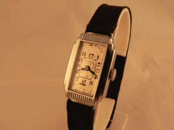 Vintage Art Deco La Forge Watch  Stepped Cathedral