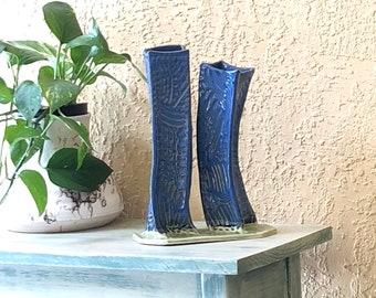 Twin tower art vases / ceramic double vase / anniversary / #neverforget / honoring 9 11 / ready to ship