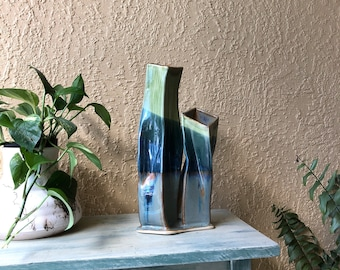 Twin tower art vases / ceramic double vase / anniversary / #neverforget /ready to ship