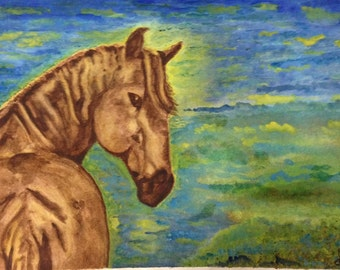 Note cards / equine art for horse lovers / thank you cards / watercolor horse / gift for teachers / stationary / set of 4 / blank note cards