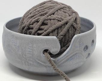 Yarn bowl, Pottery Yarn Bowl, Knitting Bowl, Yarn Organizer, Crochet Bowl, knitter's gift, gift for her