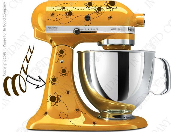 Bee Print Decal Kit For Your Kitchenaid Stand Mixer Plus A
