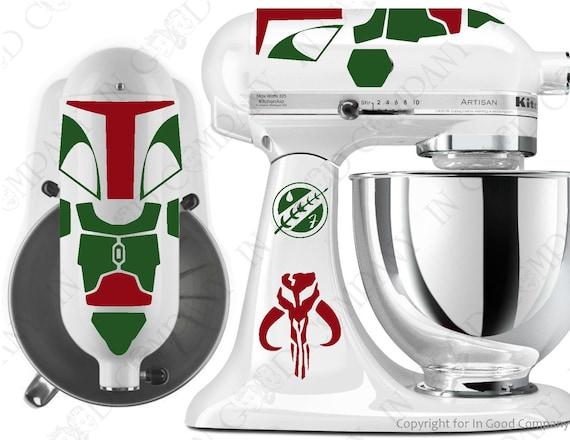 star wars boba fett inspired decal kit for your kitchenaid etsy rh etsy com