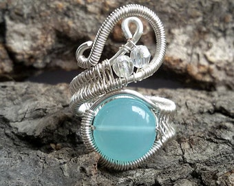 silver plated Weave Pendant wire jewelry SALE30/%OFF wire wrapped jewelry handmade boho jewelry blue turquoise Wire wrapped pendant