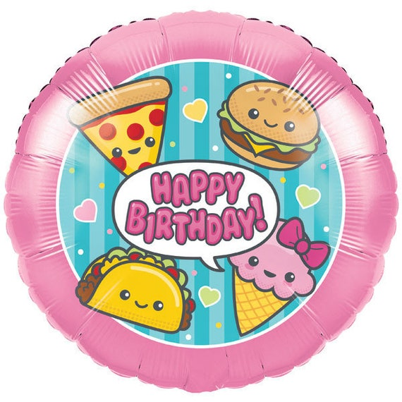 Colorful Junk Food Fun 18 Inch Foil Balloon! - Birthday Slumber Party Decoration