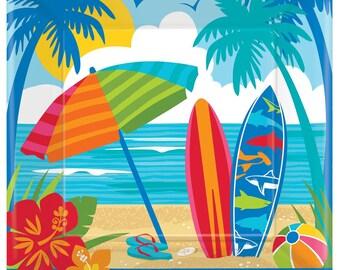 8 Ct Pack Sun u0026 Surf 7 Inch appetizer - Dessert Size Premium Paper Plates - Fun Bright Summertime Tableware!  sc 1 st  Etsy & Sun paper plates   Etsy