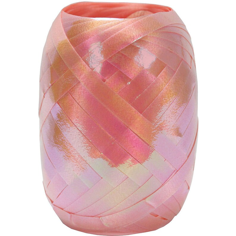 3 Pack 40 Ft Kegs Deluxe Shimmering Iridescent Curling Ribbon In Pink Total 120 Ft