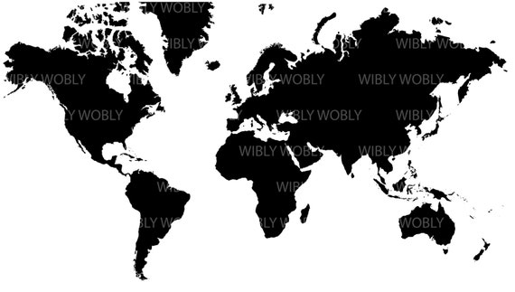 Acurate High Res World Map Files Ai Png Svg Eps Etsy
