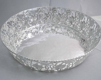 Handmade silver tray