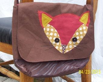 Brown fox purse/ bag/ tote