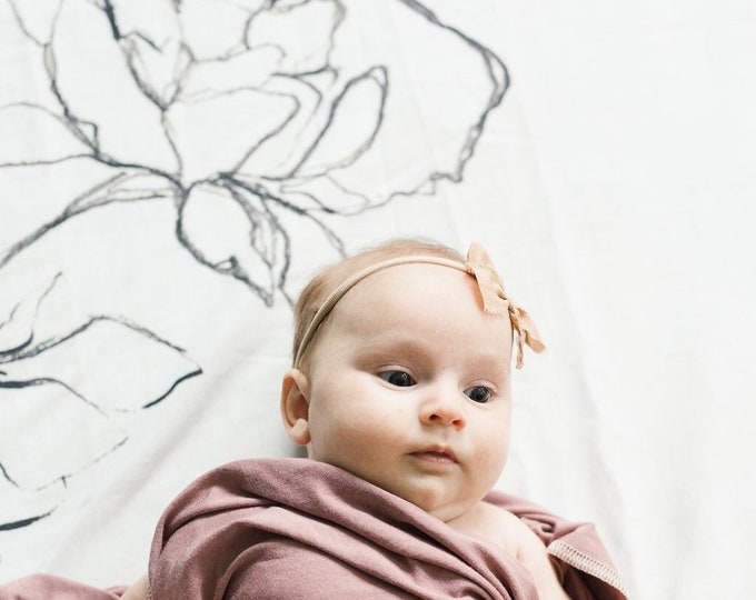 Baby Swaddle Blanket - Watercolor Floral Swaddle | the London Moore | Exclusive print to Finn & Olive