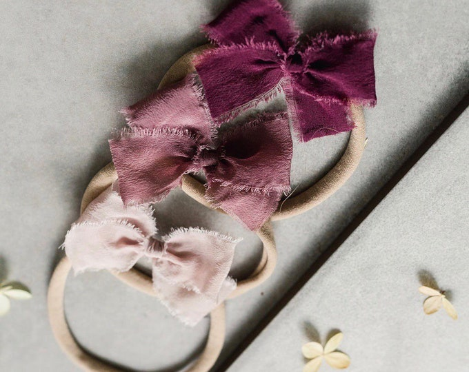 Headbands and Bows- Whimsical Collection | Berry colors