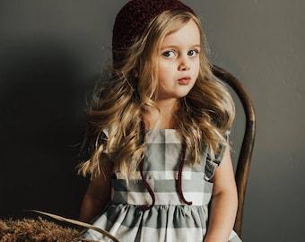 Bonnet/hat - Crochet bonnet   Berry colors