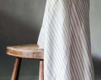 Baby Swaddle Blanket - Watercolor Grey Stripe Swaddle | the Perry | Exclusive print to Finn & Olive