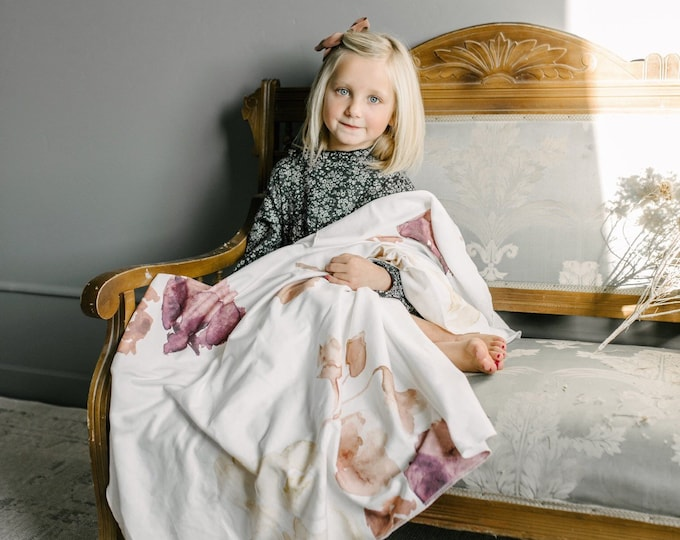 Baby Swaddle Blanket - Watercolor Floral Swaddle | the Jamie Moore | Exclusive print to Finn & Olive