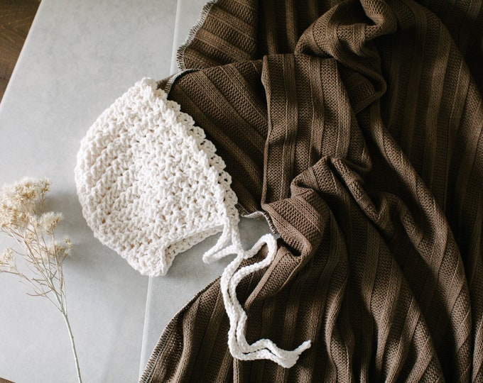 Baby Swaddle Blanket - Rich Chocolate Sweater Knit Swaddle | Britain |