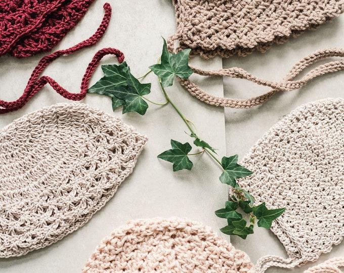 Bonnet/hat - Crochet bonnet | Berry colors