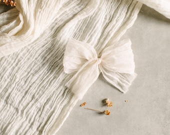 Headbands and Bows- Autumn Harvest Collection | Cream crinkle | medium