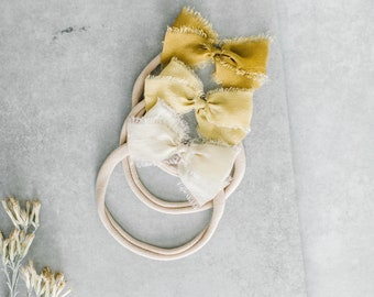 Headbands and Bows- Whimsical Collection   Golden colors