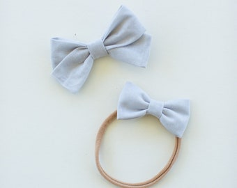 Headbands and Bows- The Ruby Sister Collection | Ice light blue Bow and headbands