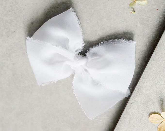 Headbands and Bows- Whimsical Collection | White lace bow or headband