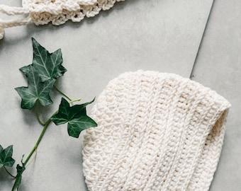 Bonnet/hat - Crochet bonnet   Pearl colors