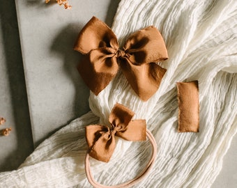 Headbands and Bows- Autumn Harvest Collection | Rust colors | dainty, medium or snap
