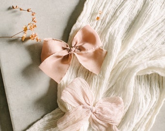 Headbands and Bows- Autumn Harvest Collection | Light & Blush crinkle | medium