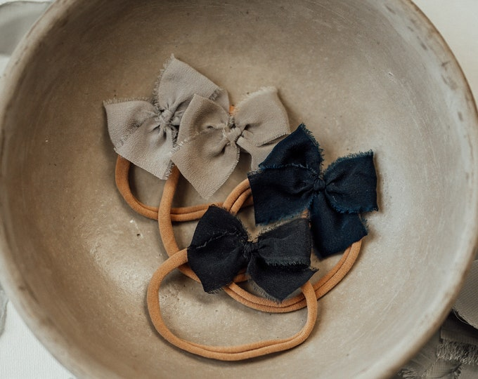 Headbands and Bows- Deep Navy | dainty size