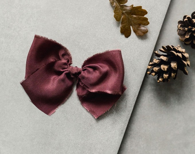 Headbands and Bows- Whimsical Collection | Ainsley Burgundy bow or headband