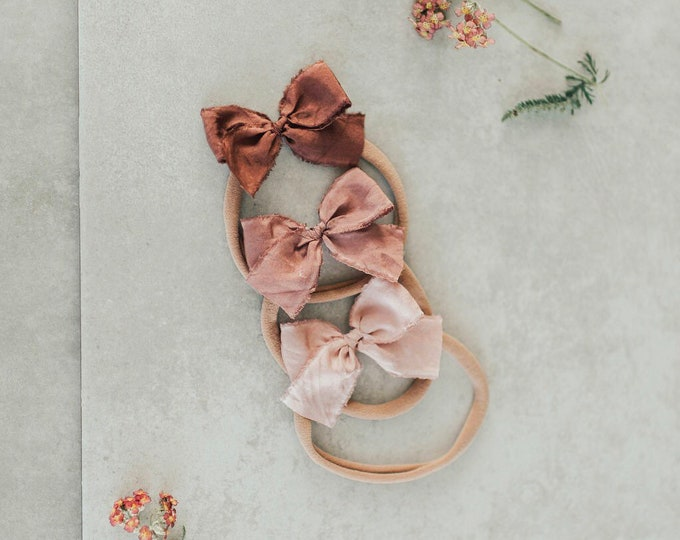 Headbands and Bows- Bloom Collection | Magnolia colors | dainty