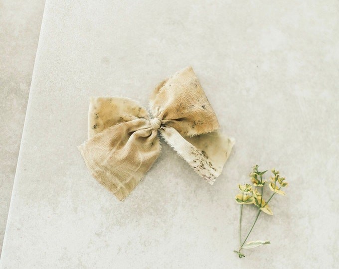 Headbands and Bows- Bloom Collection | Marigold nature pressed bow or headband