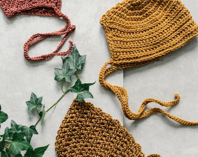 Bonnet/hat - Crochet bonnet | Golden colors