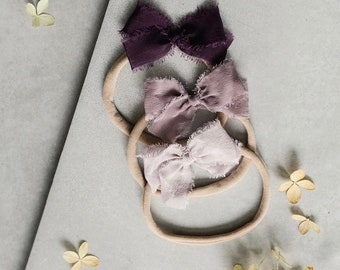 Headbands and Bows- Whimsical Collection | Plum colors