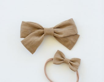 Headbands and Bows- The Back to School Sister Collection | Sand bow or headband